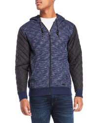 Ocean Current - Katashi Quilted Drawstring Hoodie - Lyst