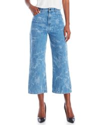 Sonia by Sonia Rykiel | Abstract Bleached Wide Leg Jeans | Lyst