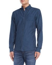 Scotch & Soda - Printed Pocket Button-down Shirt - Lyst