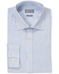 Michael Kors - White Stripe Slim Fit Dress Shirt - Lyst