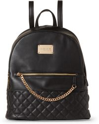 Bebe - Gina Quilted Chain Backpack - Lyst