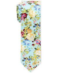 Original Penguin - Mint Floral Slim Tie - Lyst