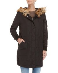 BB Dakota - Emmers Faux Fur Hood Trim Parka - Lyst