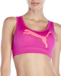 PUMA - Light Support Seamless Sports Bra - Lyst