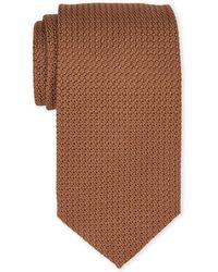 Tom Ford - Brown Textured Silk Tie - Lyst