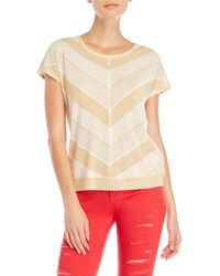 GAUDI - Metallic Knit Top - Lyst
