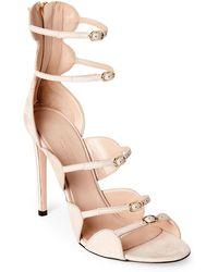 fc36c7872edb Giambattista Valli - Off-White Strappy High Heel Sandals - Lyst