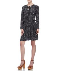 Zadig & Voltaire - Remus Liberty Floral Long Sleeve Drop Waist Dress - Lyst
