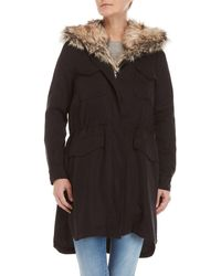 BB Dakota - Walsh Faux Fur Bibbed Coat - Lyst