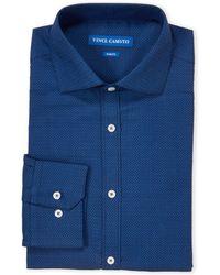 Vince Camuto - Patterned Comfort Stretch Slim Fit Dress Shirt - Lyst