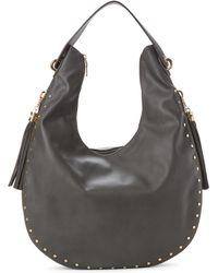 Imoshion - Gray Tasseled And Studded Hobo Bag - Lyst