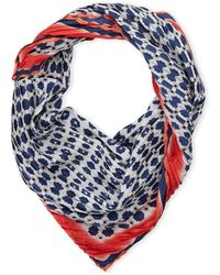 Vince Camuto - Pleated Dot Silk Scarf - Lyst