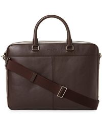 Michael Kors - Odin Leather Briefcase - Lyst
