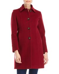 Anne Klein - Petite Single-breasted Wool Coat - Lyst