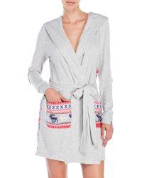 Jane And Bleecker - Hooded Short Robe - Lyst