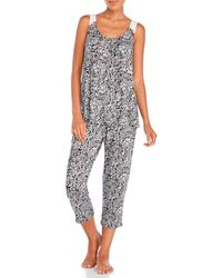 Anne Klein - Paisley Cropped Pajama Set - Lyst