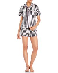 Jane And Bleecker - Two-Piece Printed Pajama Set - Lyst