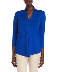 Lyst Cable Gauge Tab Sleeve Striped Top In Blue