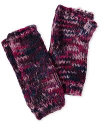 Threads For Thought - Mixed Knit Fingerless Gloves - Lyst
