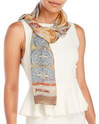 Pollini - Sheer Woven Silk Scarf - Lyst