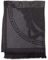 Versace - Medusa-print Wool Shaw - Lyst