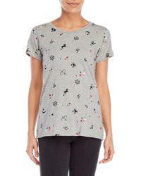French Connection - Astrological Printed Tee - Lyst