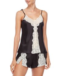 Rya Collection - Two-piece Lace Trim Satin Camisole & Shorts Set - Lyst