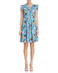 Yumi' - Ladder Front Floral Day Dress - Lyst