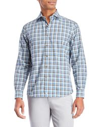 Thaddeus - Plaid Sport Shirt - Lyst