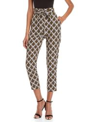 A.L.C. - Ansel Belted Printed Silk Pants - Lyst