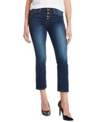 Flying Monkey - Mammoth Button Fly Cropped Jeans - Lyst