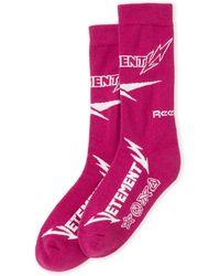 Vetements - Purple Metal Crew Socks - Lyst