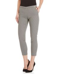 GAUDI - Black & White Patterned Pants - Lyst