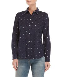Nautica - Sailboat Print Fitted Shirt - Lyst