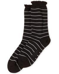 Max Mara - Lurex Stripe Socks - Lyst