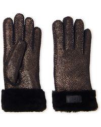 UGG - Turn Cuff Sheepskin Gloves - Lyst