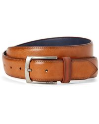 Nautica Tan Pebbled Belt - Brown