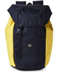 Herschel Supply Co. - Peacoat & Cyber Yellow Iona Laptop Backpack - Lyst
