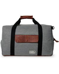 Hex - Black Striped Drifter Duffel Bag - Lyst