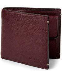 Ted Baker | Oxblood Leather Billfold Wallet | Lyst