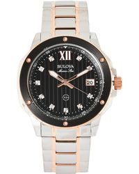 Bulova - 98D127 Two-Tone Watch - Lyst