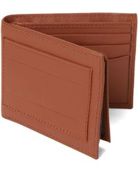 c902434103 Tommy Hilfiger Darin Leather Zip Wallet in Natural for Men - Lyst