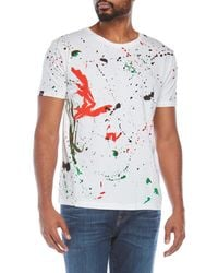 T-post - Splatter Print Tee - Lyst