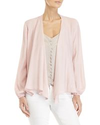 Cotton Candy - Pink Open Front Cardigan - Lyst