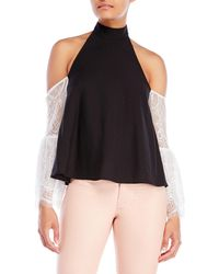 La Maison Talulah - Shielding Cold Shoulder Top - Lyst