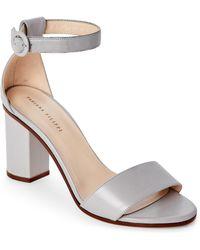 Fabiana Filippi - Grey Daniela Block Heel Two-Piece Sandals - Lyst
