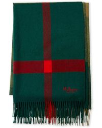 Mulberry - Green Plaid Wool Scarf - Lyst