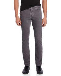 AG Jeans - The Matchbox Slim Straight Corduroy Pants - Lyst