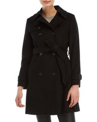 Lauren by Ralph Lauren - Wool Double Breasted Trench - Lyst