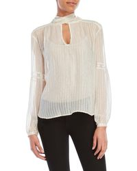 Gypsy 05 - Sheer Striped Blouse - Lyst